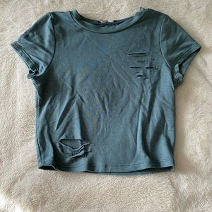 LIKE NEW Blue Distressed Top